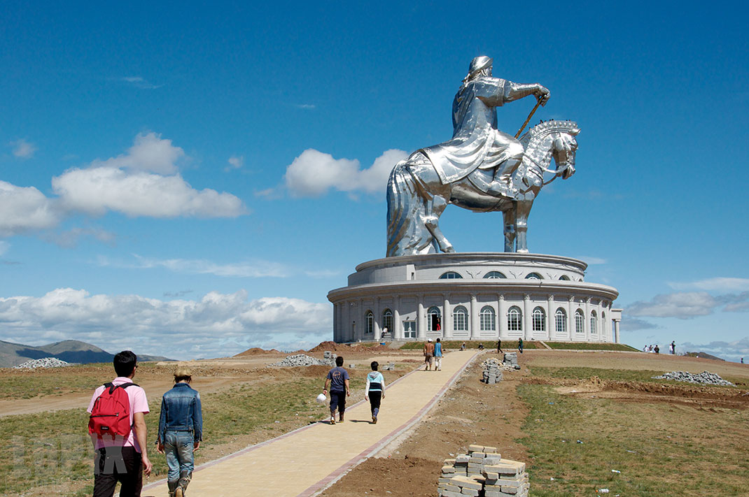 The huge statue of Genghis Khan in Mongolia