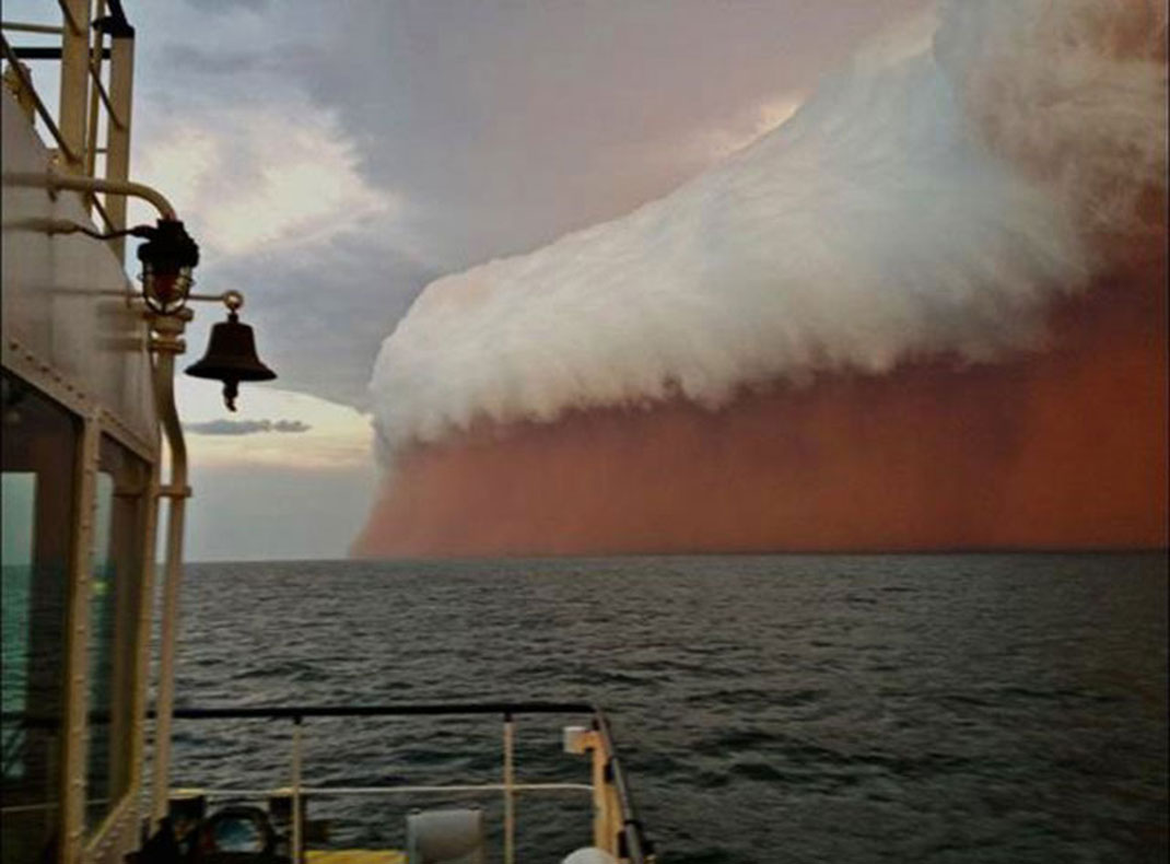A dust storm in Australia in 2013