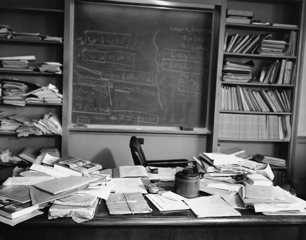 The office of Albert Einstein few hours after his death