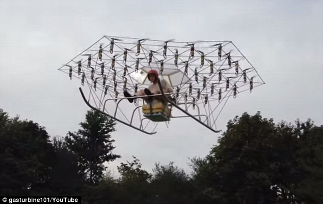 A New SUPER DRONE With 54 propellers Takes To The Skies-