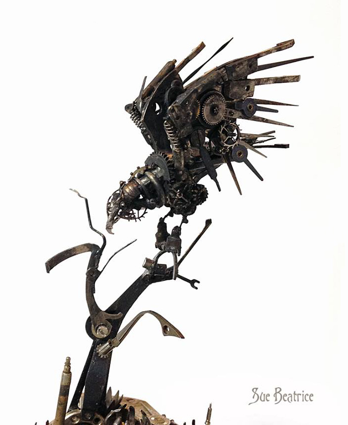 Amazing Life Like Sculptures Made From The Old Watch Parts-10