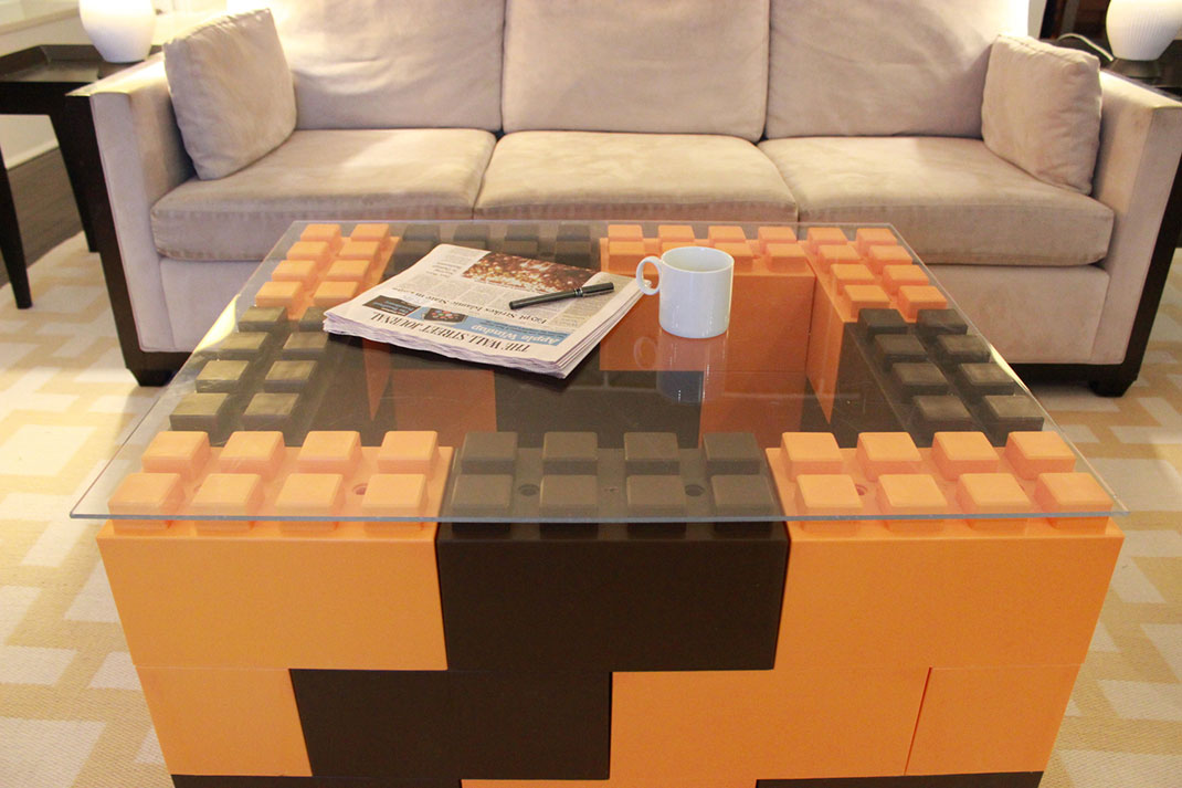 use these giant lego bricks to build human size furniture. Black Bedroom Furniture Sets. Home Design Ideas
