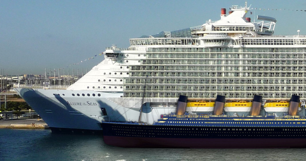 28 Giant Ships Which Surpass Titanic For A Small Pleasure Boat-