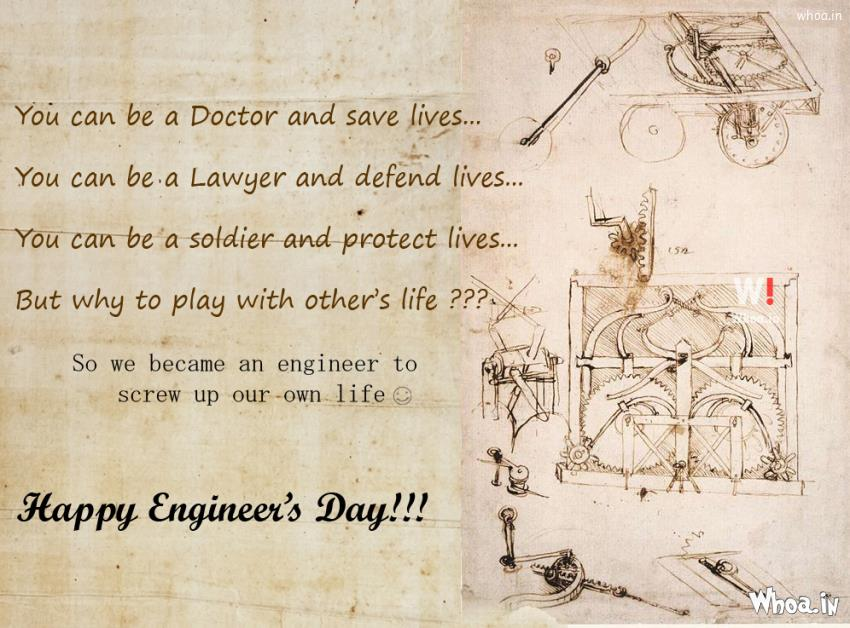 engineers day quotes Happy engineers day 2017 : engineers day images for civil branch, mechanical branch, ece , cse (computers), it, eee check engineers day inspirational quotes, wallpapers & engineering day wishes, engineers day sms.