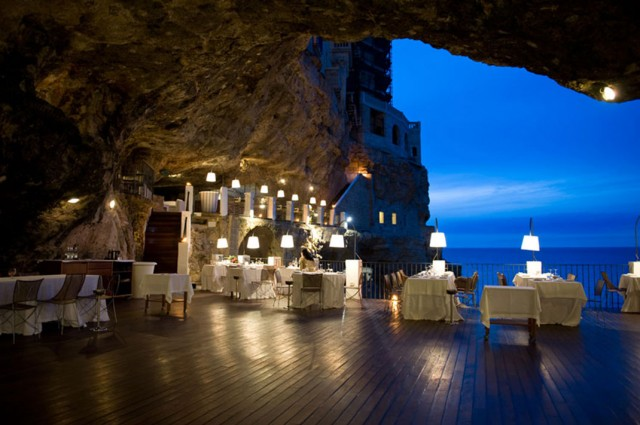 Grotta Palazzese-Amazing Italian Restaurant Carved Into A Cliff-