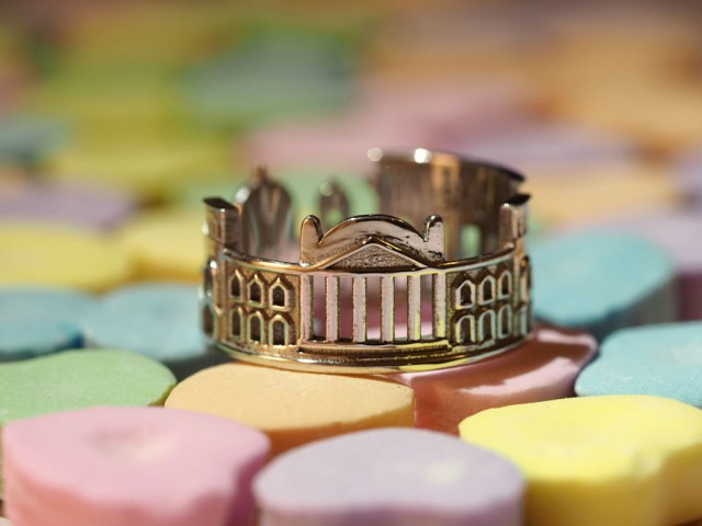 Rings made as the architectures of famous cities--15