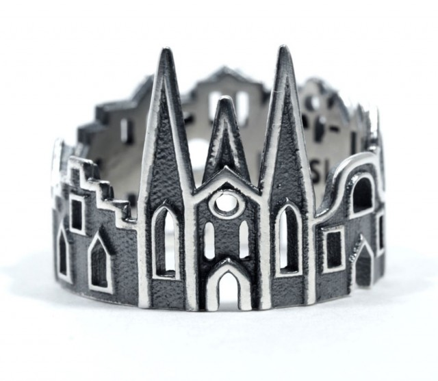 Rings made as the architectures of famous cities--17