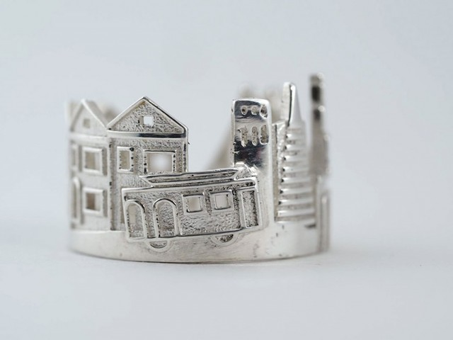 Rings made as the architectures of famous cities--37