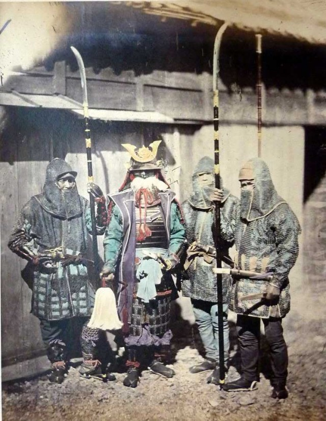 Very Rare Color Photographs Of Samurais Resurface-12