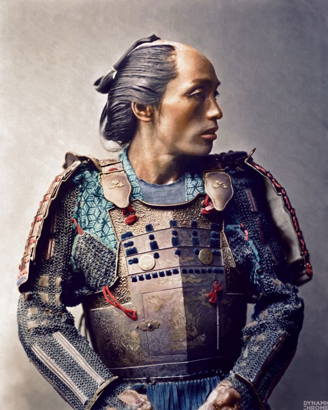 Very Rare Color Photographs Of Samurais Resurface-4