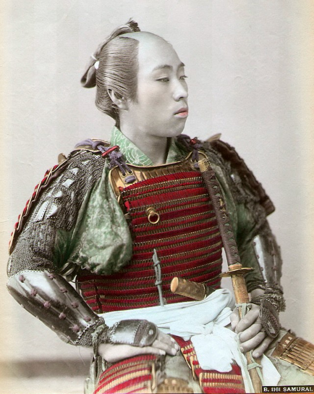 Very Rare Color Photographs Of Samurais Resurface-5
