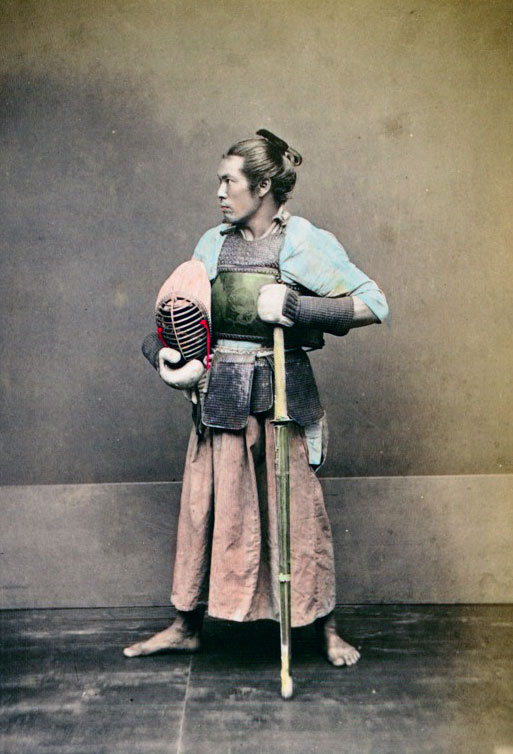 Very Rare Color Photographs Of Samurais Resurface-6