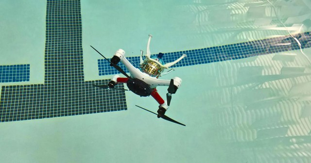 Amazing Drone That Can Fly, Float and Dive Underwater To Make Sea Rescue Missions--3