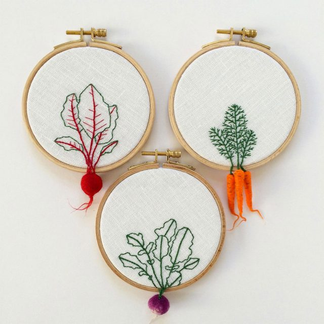 Artist Creates Amazing Embroideries Shaped As Vegetables--5