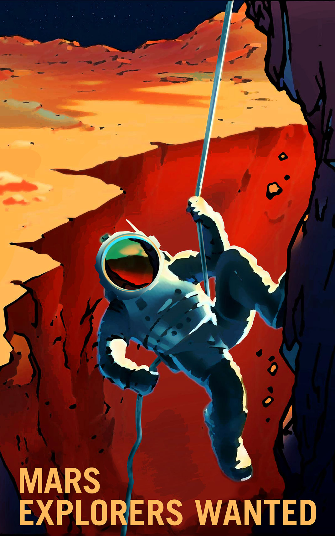 NASA Recruitment Posters Will Inspire You To Conquer Mars-