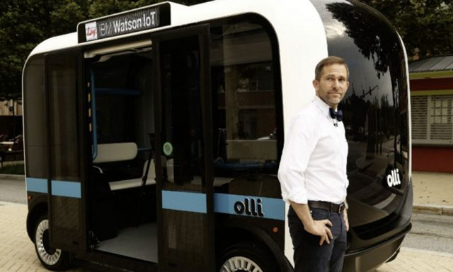 Olli Is A 3D Printed Electric Minibus That Can Be Printed In A Day-