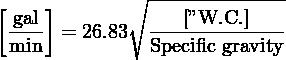 "∘ -------------- [ gal]            [""W.C.]  min- = 26.83  Specific-gravity"