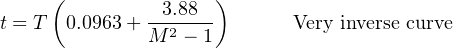 (               ) t = T  0.0963+  -3.88---      Very inverse curve                M 2 − 1