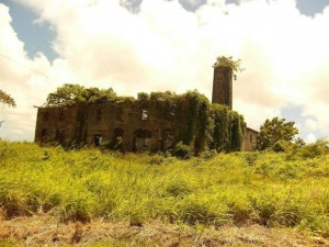 An abandoned distillery in Barbados