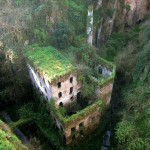 A abandoned mill in 1866 in Sorrento, Italy.