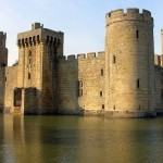 Bodiam Castle in East Sussex England.