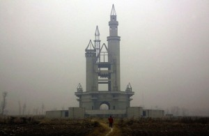 Disneyland Park abandoned near beijing, China.