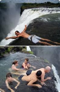 The pool of the devil. Victoria Falls, Zambia.
