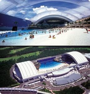 Ocean Dome. Japan : the largest indoor pool: 300 × 100 meters