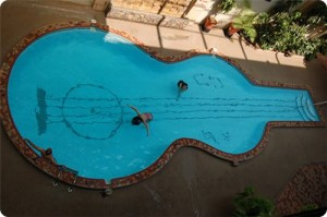 Pool guitar somewhere in the USA