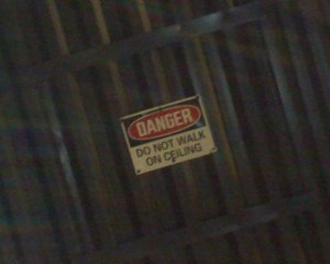 Funny Sign-Do Not Walk on The Ceiling