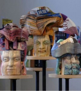 Amazing Sculptures Made From Books