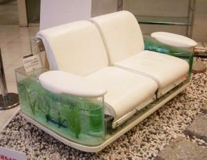 Aquarium inside a couch