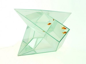 Aquarium shape like prism