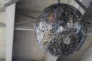 Artistic chandeliers Fron old bike parts, Saint Antonio