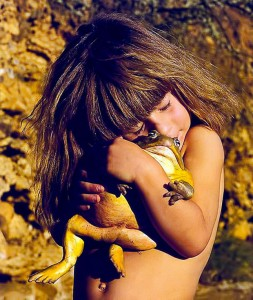 Tippi Degre--girl with an animal
