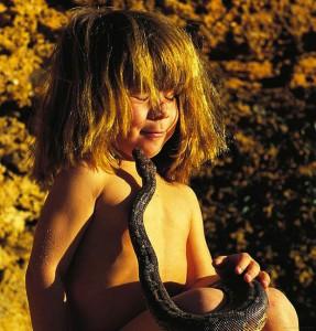 Tippi Degre--girl with a snake