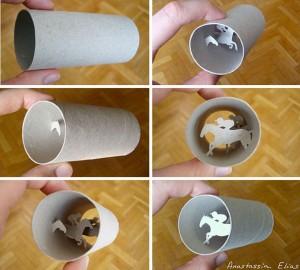 Anastassia Elias-Toilet Paper Rolls Art