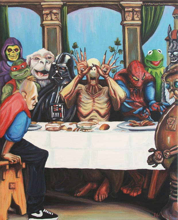 Hilary White: Remake Of Famous Historic Paintings With Modern Pop Culture Icons