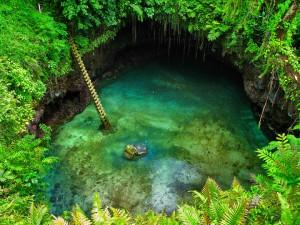 Lotofaga Upolu Island Natural Swimming Pool In Pacific 1
