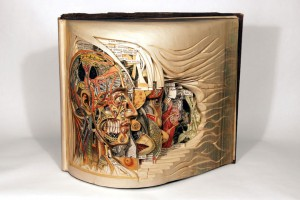 Brian Gives A New Life To Old Books By Carving Them Into Sculptures-
