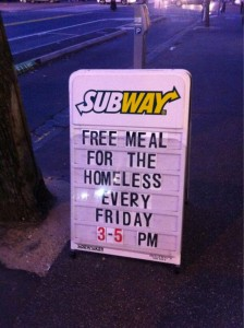 Free Lunch For The Homeless-