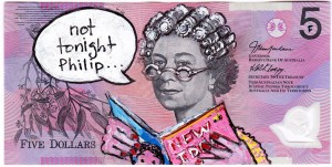 An Artist Makes Hilarious Caricatures Of Queen of England On Australian Dollar -13