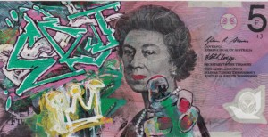 An Artist Makes Hilarious Caricatures Of Queen of England On Australian Dollar -16