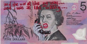 An Artist Makes Hilarious Caricatures Of Queen of England On Australian Dollar -17