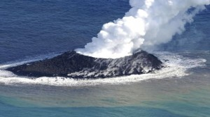 The eruption of a volcano in Japan gives rise to the birth of an island of the coast of Japan-