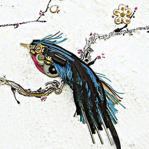 An Artist Blends Traditional Japanese Art With Electronic Circuits-3