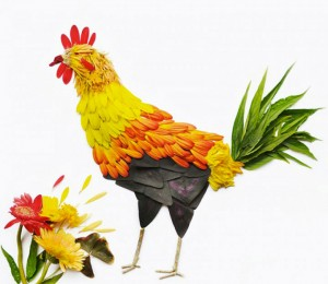 Beautiful Multicolored Birds Made From Hundreds Of Flower Petals-4
