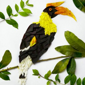 Beautiful Multicolored Birds Made From Hundreds Of Flower Petals-5