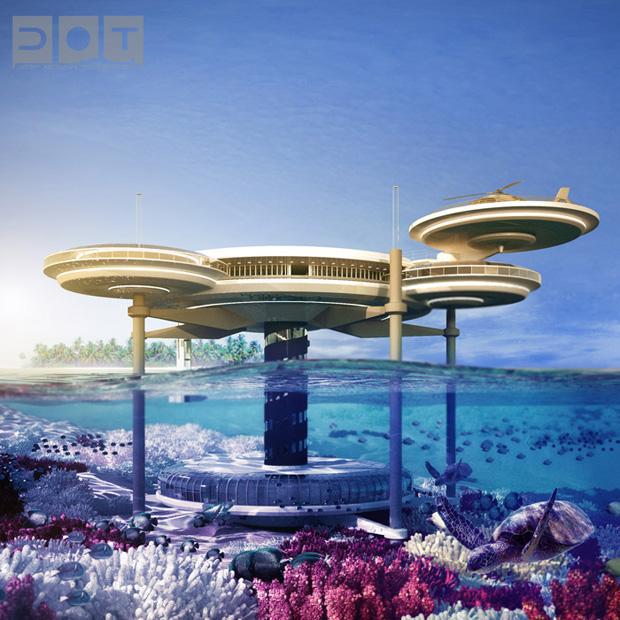Water Discus Dubai Future underwater hotel