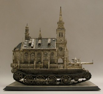 An Artist Superimposes The World Of War With That Of Religion By Making church-Tanks-2